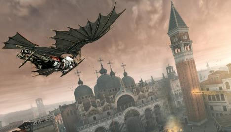 Assassin's Creed 2: Flying across the city