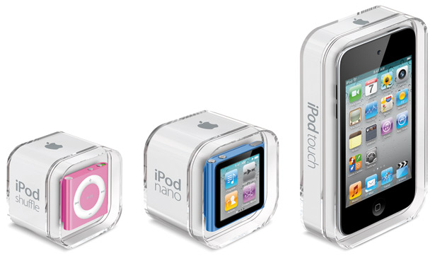 Apple introduces new iPod touch, shuffle and nano; lets loose iTunes 10 Appletriopackaging