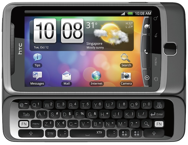 HTC Desire Z QWERTY open