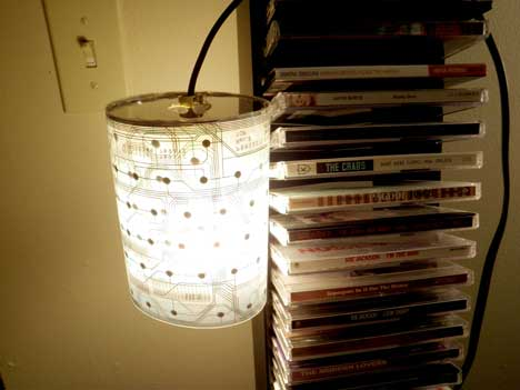 Lamp made out of keyboard membrane