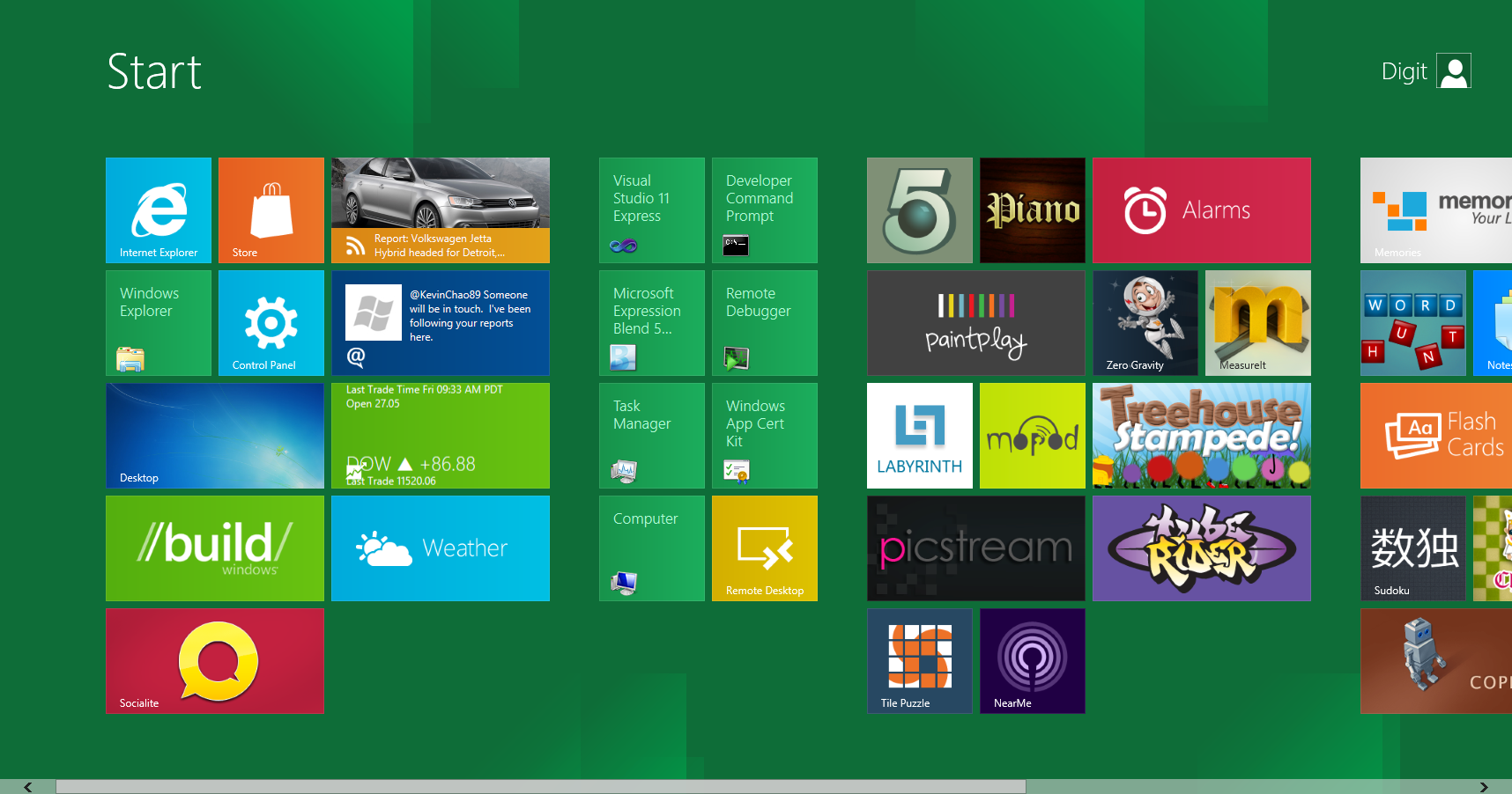 Look at the Windows 8