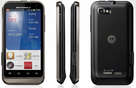 The Motorola Defy XT's Views