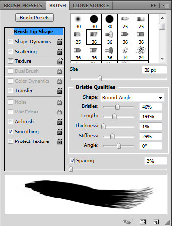 Photoshop CS5 brush tool