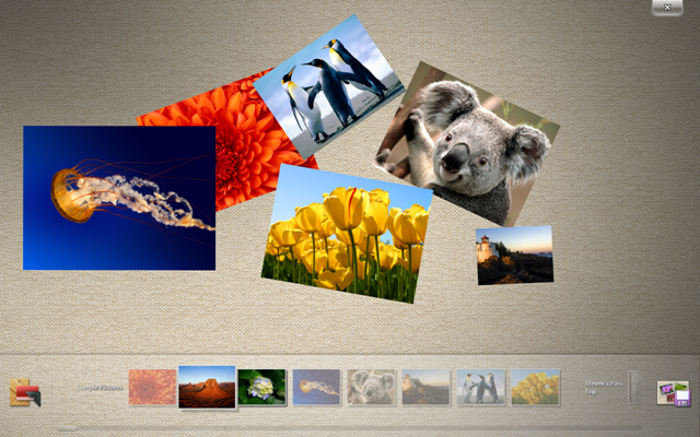 Microsoft Surface Collage app - bundled with the Win 7 Touch Pack