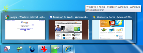 Windows 7 taskbar previews