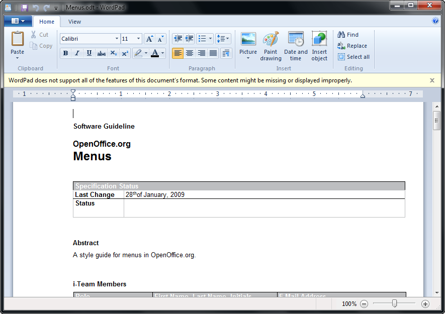 Wordpad for win 7 - How to create a table in wordpad ...