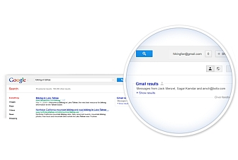 Google adds Gmail messages to search results