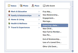 Facebook adds a new Life Event for Timeline, 'Expecting a Baby'