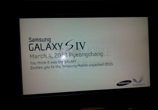 Samsung may announce Galaxy S IV on March 15, expected to go on sale in April