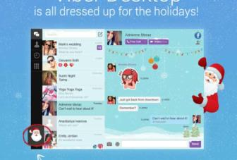 Viber for desktop gets Santa theme and free stickers