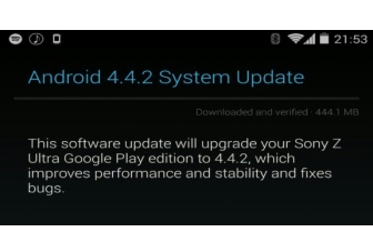 Sony Z Ultra Google Play Edition gets Android 4.2.2 update