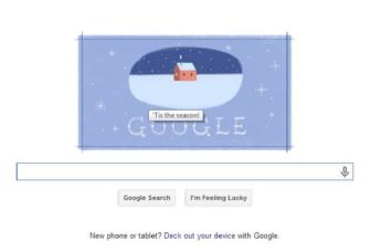 Google wishes 'Happy Holidays' with a third doodle