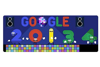 Google celebrates New Year eve's with an animated Doodle