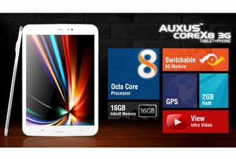 iBerry Auxus CoreX8 3G octa-core tablet announced for Rs. 23,990
