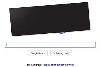 Google shows its support for Blackout day on homepage