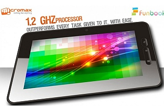 Micromax launches Android 4.0 ICS-based Funbook tablet at Rs. 6,499